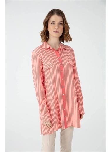 Desen Triko Gömlek Kırmızı